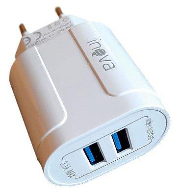Carregador inteligente 2 USBs 3.1A