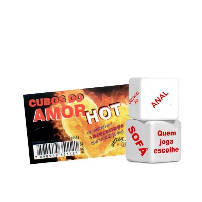 DADO DUPLO  CUBOS DO AMOR HOT