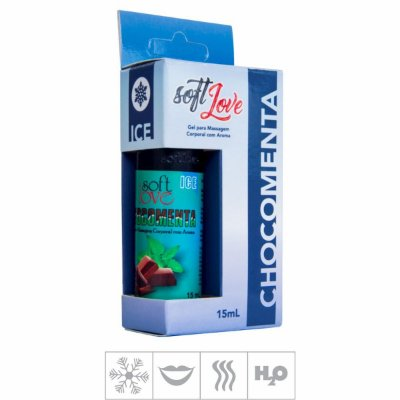 Gel Comestivel Soft Love Ice 15ml (ST115) -Chocomenta-Unico