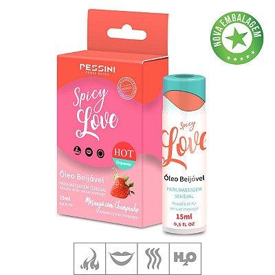 Gel Comestivel Spicy Love Hot 15ml(ST490)-Morango c/ Champagne