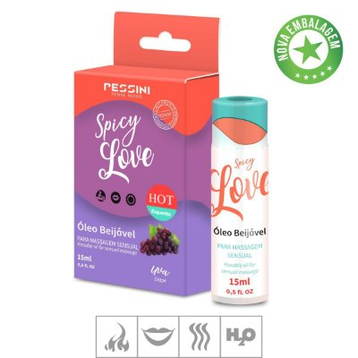 Gel Comestivel Spicy Love Hot 15ml(ST490)-Uva