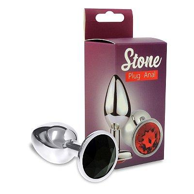 Plug Metalico Com Strass Variados 6,5cm-P