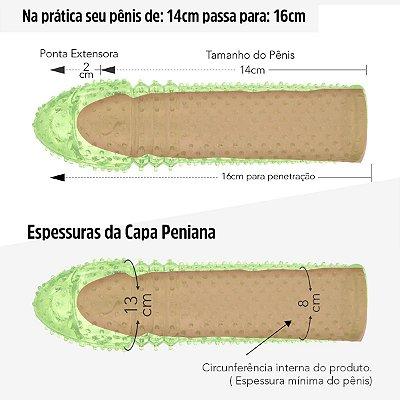 Capa Peniana Extender De 14cm para 16cm-Verde