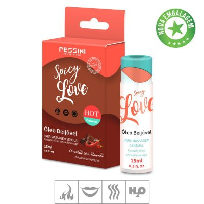 Gel Comestivel Spicy Love Hot 15ml(ST490)-Chocolate c/ Pimenta