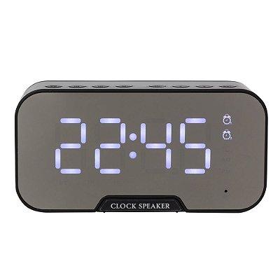 Caixa de Som Multimídia com Relógio e Suporte para Celular - IAD03019