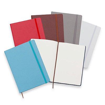 Caderneta tipo Moleskine de Couro Sintético - IAD03005