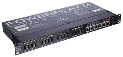 Processador de Sinal Behringer Powerplay P16-I Ultranet 16 Canais