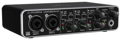 Interface de Áudio Behringer U-Phoria UMC204HD Midas USB