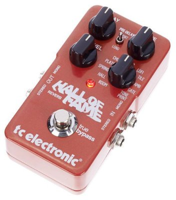Pedal de Efeitos TC Electronic Hall Of Fame Reverb para Guitarra