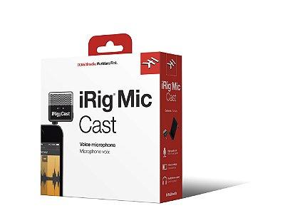 Microfone Cardióide Condensador IK Multimedia iRig Mic Cast para iPhone