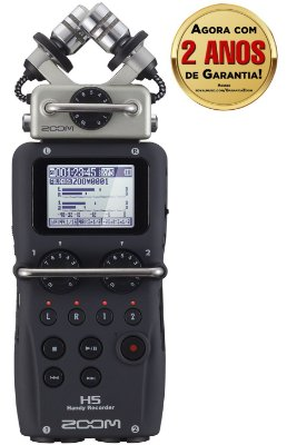 Gravador Digital Potátil Zoom H5 Handy Recorder