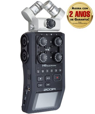 Gravador Digital Portátil Zoom H6 Handy Recorder