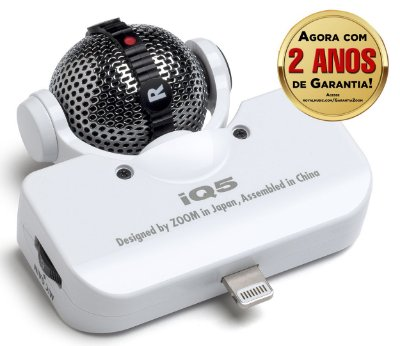 Microfone Estéreo Zoom IQ5 para Iphone