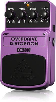 Pedal de Efeitos Behringer OD300 Overdriver Distortion para Guitarra