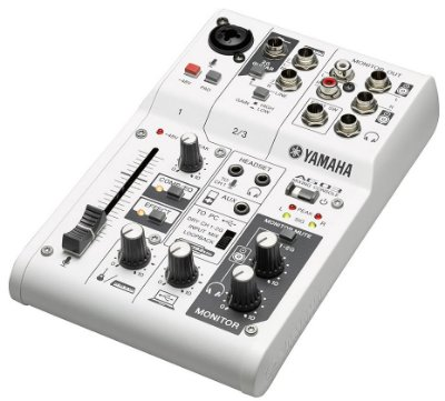 Mesa Analógica com interface Yamaha AG03 USB 3 Canais