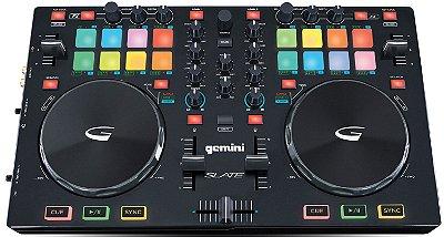 Controladora DJ Gemini Slate USB - 2 Canais