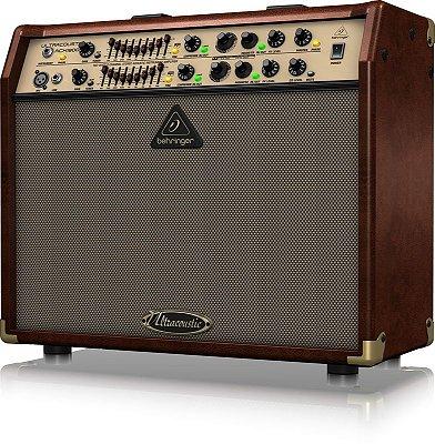 "Caixa Amplificada Behringer Ultracoustic ACX1800 180W 2x8"" para Violão"