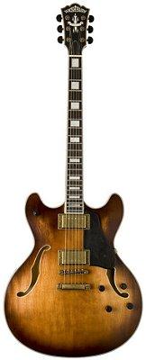 Guitarra Semi-Acústica Washburn HB36K Vintage Matte