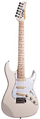 Guitarra Stratocaster Seizi Vision Ivory com Capa