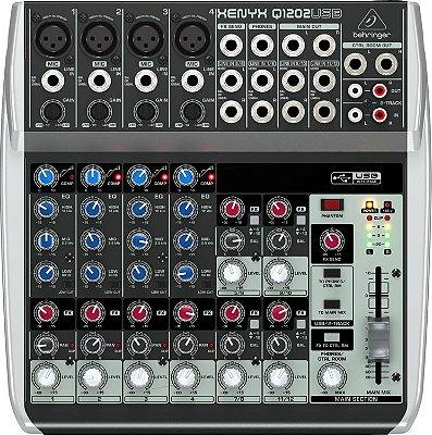 Mesa de Som Xenyx  Behringer Q1202 USB 12 Canais