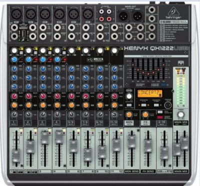Mesa de Som Behringer Xenyx Qx1222 USB 12 Canais