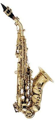 Saxofone Soprano Curvo Shelter TJS6433 Bb Laqueado com Case