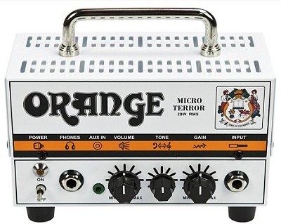 Cabeçote Valvulado Orange Micro Terror Head MT20 20W Híbrido para Guitarra