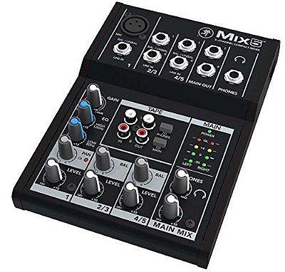 Mesa de Som Analógica Mackie Mix5 com 5 canais