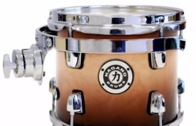 Tom Nagano NCT8L 8'' Concert Full Lacquer com Holder e Clamp para Bateria