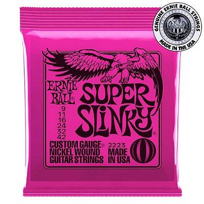 Encordoamento Ernie Ball Super Slinky .009 para Guitarra