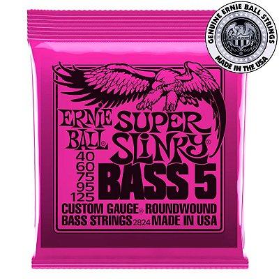 Encordoamento Ernie Ball Super Slinky Bass 5 .040 /.125 para Contrabaixo