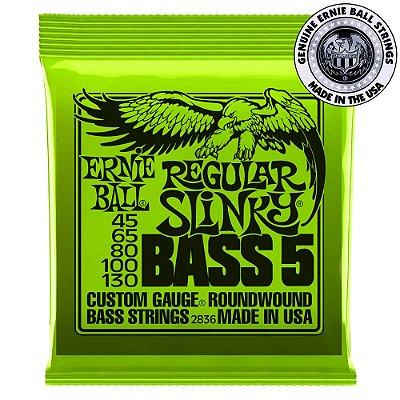 Encordoamento Ernie Ball Regular Slinky Bass 5 .045 /.130 para Contrabaixo