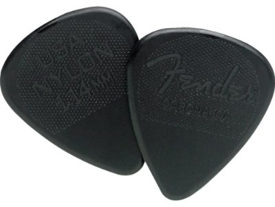 Kit Palhetas Fender Nylon Picks Extra Heavy Black 12pçs