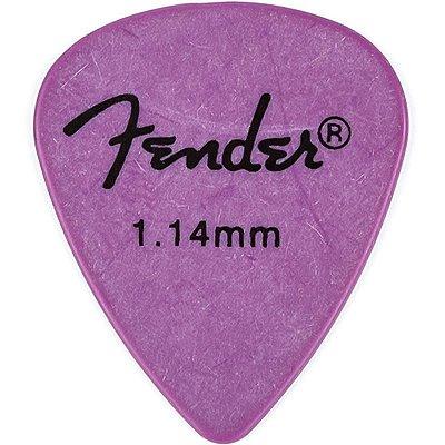 Kit Palhetas Fender Rock-On! Tourning Heavy/Extra Heavy Lilás 12pçs