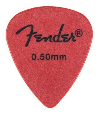 Kit Palhetas Fender Rock-On! Tourning Thin Red 12pçs