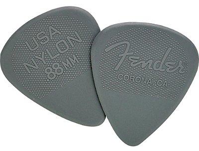 Kit Palhetas Fender Nylon Picks Medium Heavy Gray 12pçs