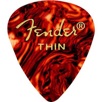Kit Palhetas Fender Classic Celluloid Picks 351 Shell Thin 12pçs