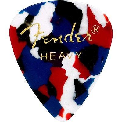 Kit Palhetas Fender Classic Celluloid Picks 351 Confetti Heavy 12pçs