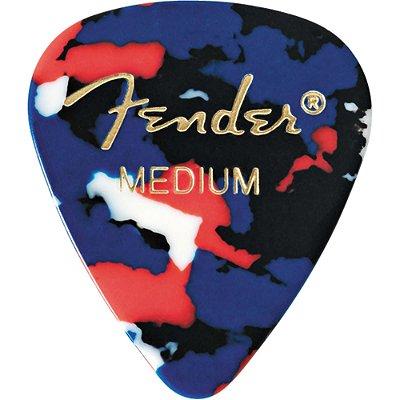 Kit Palhetas Fender Classic Celluloid Picks 351 Confetti Medium 12pçs