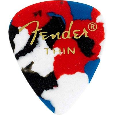 Kit Palhetas Fender Classic Celluloid Picks 351 Confetti Thin 12pçs