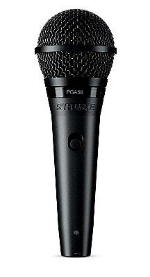 Microfone Dinâmico Cardioide Shure PGA58 LC com Fio