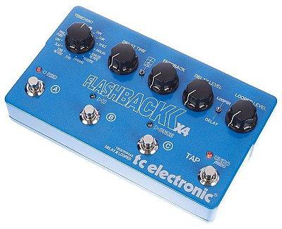 Pedal de Efeitos TC Electronic Delay Flashback X4 para Guitarra