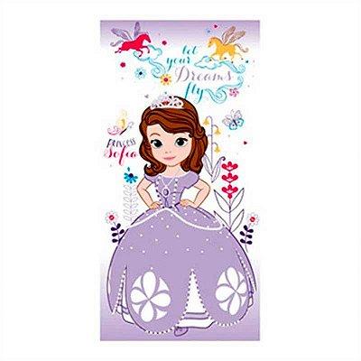 Toalha de Banho Santista Disney- Princesa Sofia Flowers 100% Algodão