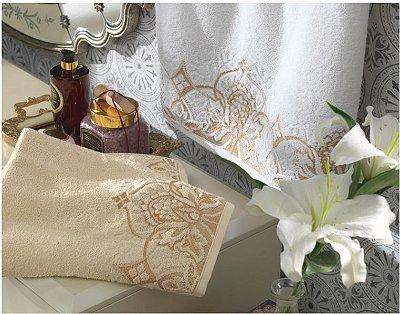 Jogo de toalha- Banho e rosto-  Karsten -  Versati Donatta- 2 peças  - Gramatura: 480 g/m². Na compra deste jogo, leve um sabonete perfumado e um esfoliante de brinde.