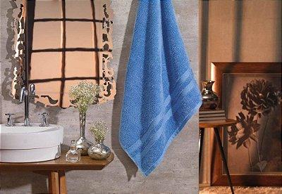Jogo de Toalhas - 2 Peças/Banhão e Rosto - Karsten - 100% Algodão Egípcio Classic - (Azul Cósmico)- Gramatura: 530g/m²