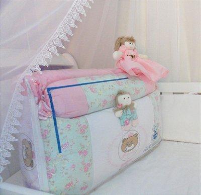 Mel Baby - Kit de berço de 11 peças em piquet bordado, tecido 100% algodão, enchimento 100% poliéster