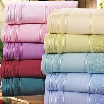 Toalhas de Rosto da Santista para pintar e bordar - 100% algodão - Desiree.