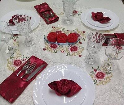 Toalha de mesa Importada - Redonda - Tamanho: 85RD - 100% Poliéster - Ref:3637