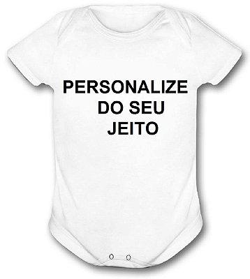 Body Infantil Branco Personalizado P ao GG