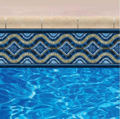 Faixa Adesiva de Piscina 2m x 20cm Design Fraserisland